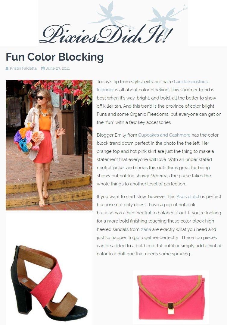 fun colorblocking