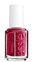 Essie red glitter