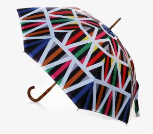 David David Walking Stick Umbrella Print U8