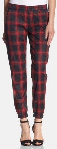 plaid hudson pants