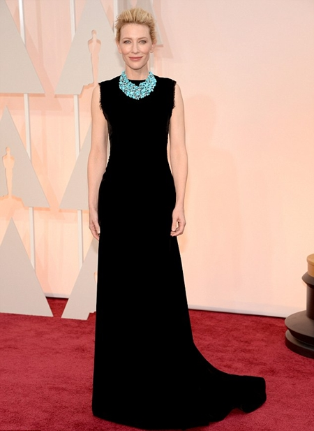 cate blanchett oscars turquoise necklace
