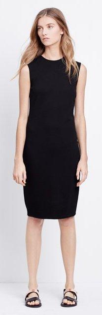 vince black dress ponte sleeveless