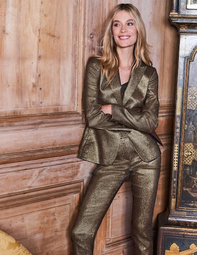 Real Life Style - Boden - Belgravia Blazer - Gold Metallic