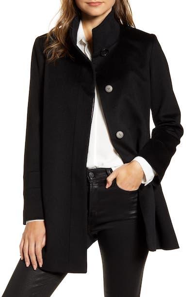 Real Life Style, Women's Coats - Fleurette Stand Collar Wool Car Coat