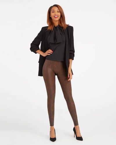 Real Life Style - Spanx - Faux Leather Snakeskin Leggings
