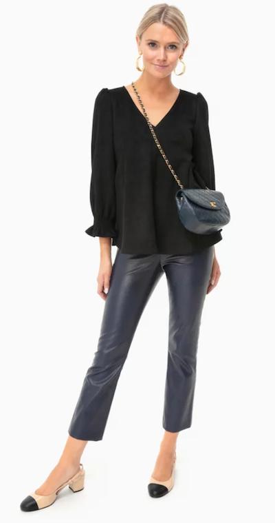 Real Life Style - Tuckernuck - Navy Leather Ashford Pants