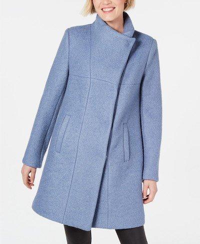 Real Life Style, Women's Coats - Kenneth Cole Asymmetrical Boucle Walker Coat