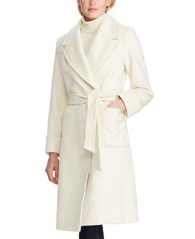 Real Life Style, Women's Coats - Lauren Ralph Lauren Belted Wrap Coat