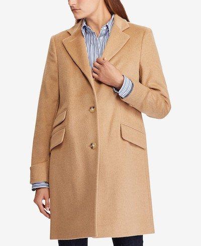Real Life Style, Women's Coats - Lauren Ralph Lauren Single Breasted Reefer Coat