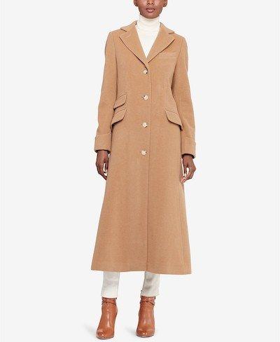 Real Life Style, Women's Coats - Lauren Ralph Lauren Maxi Reefer Coat