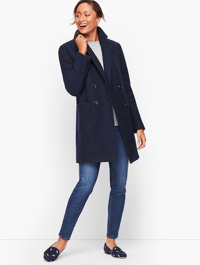Real Life Style, Women's Coats - Talbots Boiled Wool Double Breasted Coat