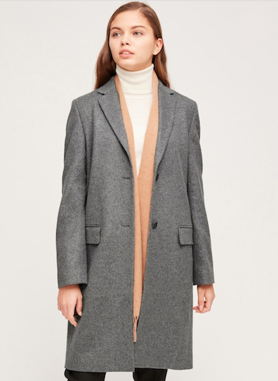 Real Life Style, Women's Coats -Uniqlo Women's Cashmere Blend Chester Coat