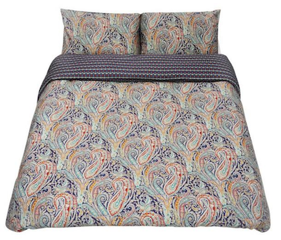 Real Life Style-Liberty London Felix And Isabelle Cotton Sateen Super-king Duvet Cover Set