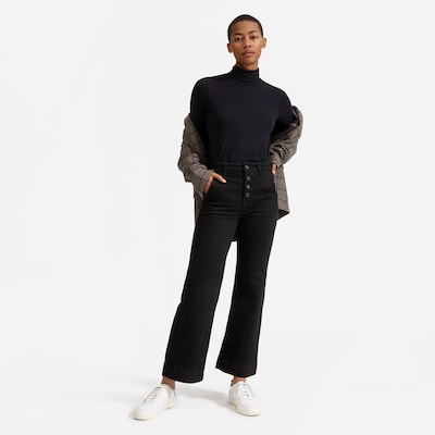 Real Life Style-Everlane The Button-fly Wide Leg Jean