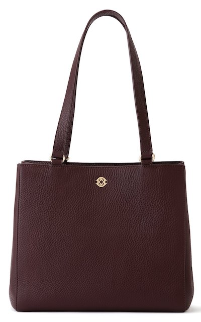 Real Life Style Work Tote Bag, dagne dover burgundy oxblood leather allyn tote
