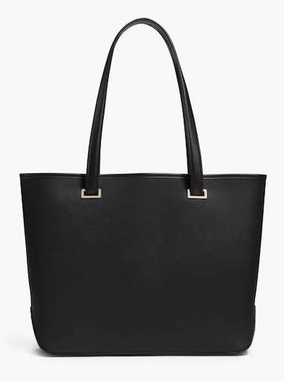 Real Life Style work tote bag, lo and sons seville tote in black leather