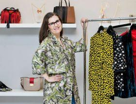 Lani Inlander with Clothing Rack