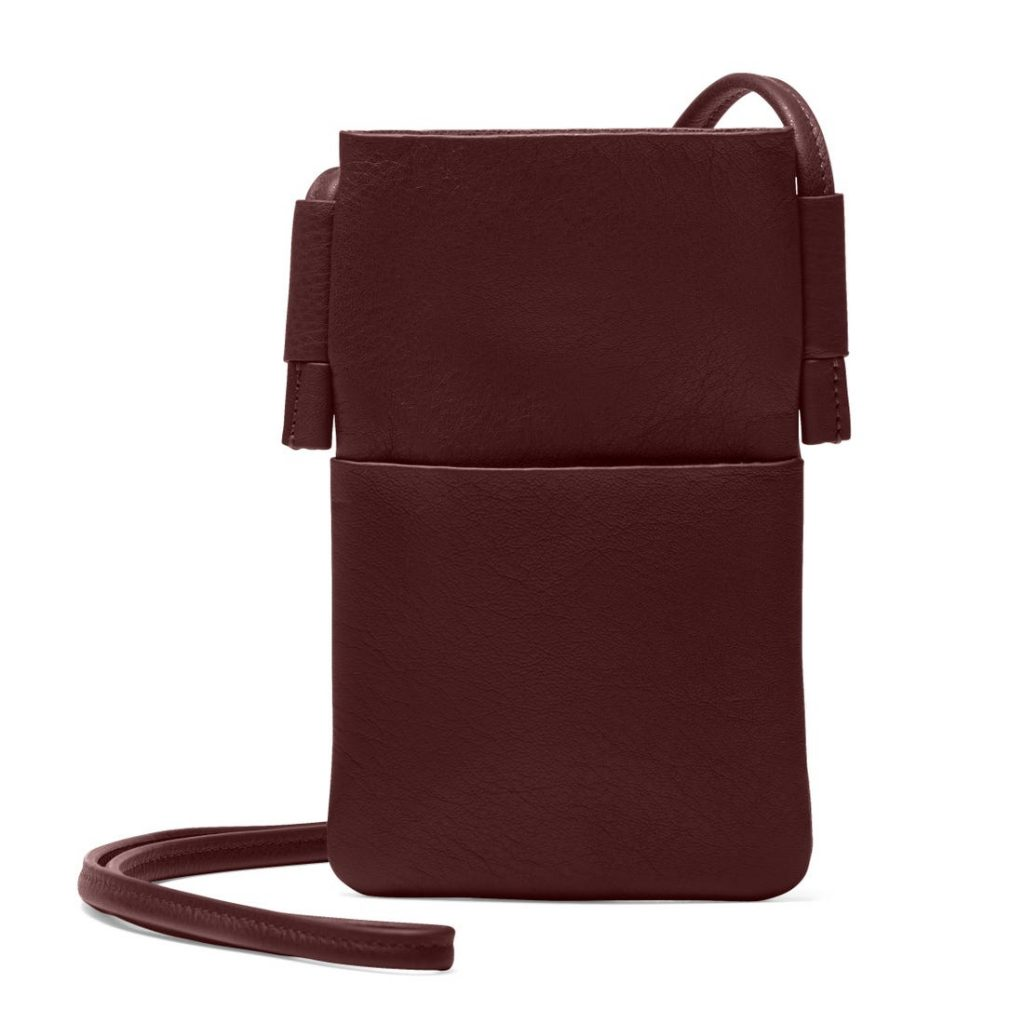 Leatherology Bordeaux Cross Body Phone Pocket Bag