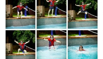 James in Pool