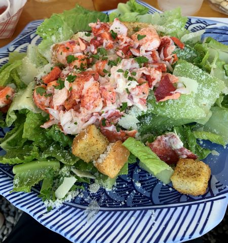 Lobster salad Fisherman's Catch Wells Maine Real Life Style