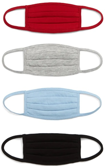 Kids assorted 4 pack pleated mask Nordstrom Real Life Style