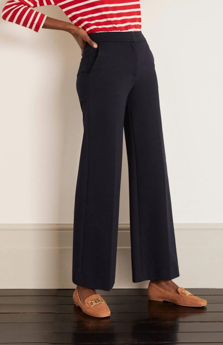 Boden hampshire ponte wide leg pants real life style