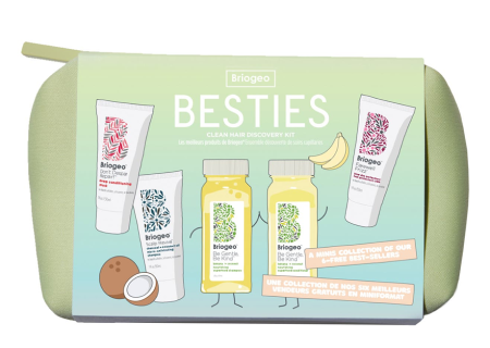 Briogeo Hair Besties clean hair discovery set with shampoo and conditioner real life style