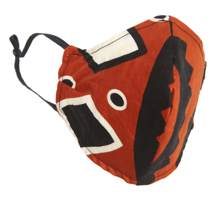 Diop Adult red and black Print Contoured Face Mask Real Life Style