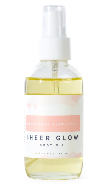 London Grant Macadamia Safflower Sheer Glow Body Oil real life style