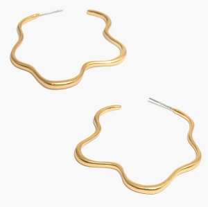 madewell brass wavy hoop earrings real life style