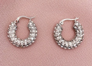 oma the label ameze silver rhinestone hoops real life style