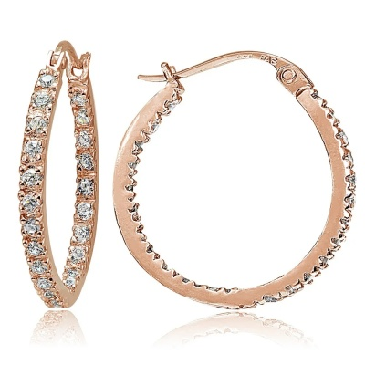 icz stonez overstock rose gold hoop earring cz real life style