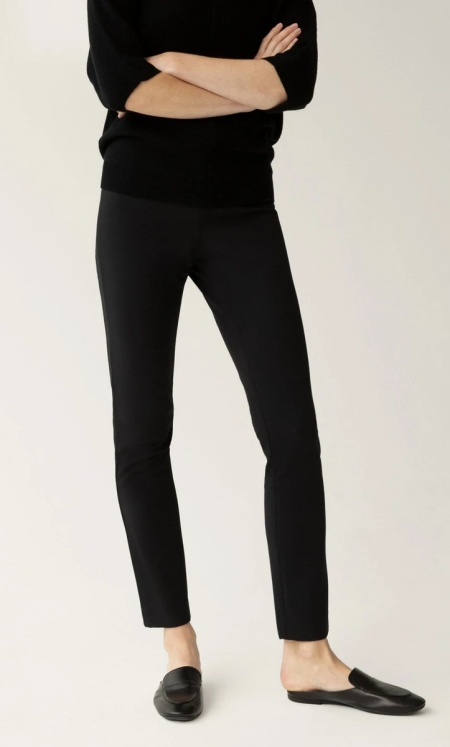 The Reset r label skinny stretch pant in black real life style
