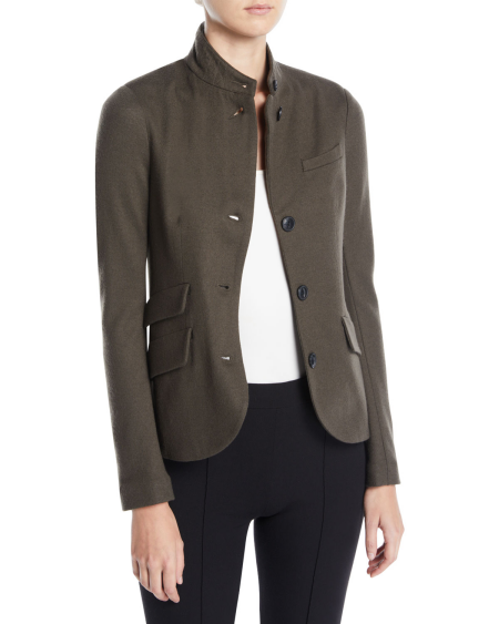 Real Life Style Must Have Comfortable Blazer for Work or Work From Home, Rag and Bone brown soft wool slade jacket