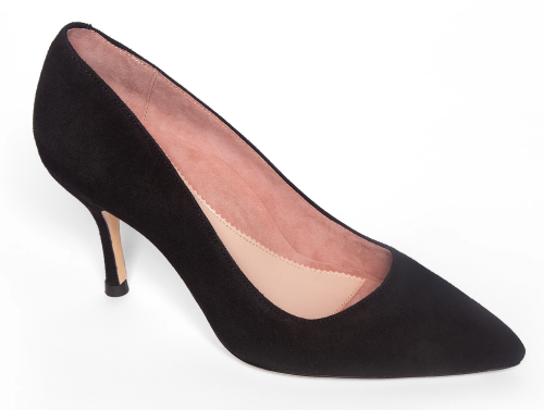 Comfortable and Fashionable dress shoes for work for Real Life Style, Ally black suede heels