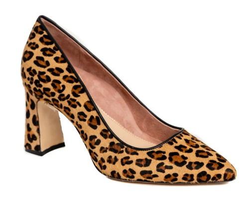 Comfortable and Fashionable dress shoes for work for Real Life Style, Ally leopard print block heels