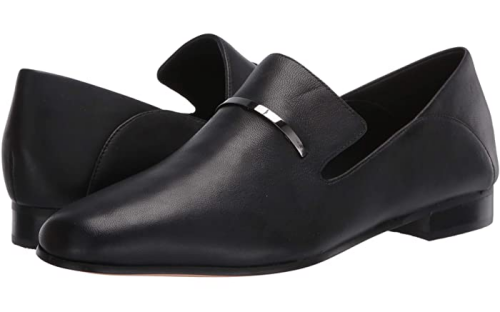 Comfortable and Fashionable dress shoes for work for Real Life Style, Clarks viola trim black loafer