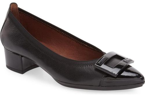 Comfortable and Fashionable dress shoes for work for Real Life Style, Hispanitas black Omega block heel pump