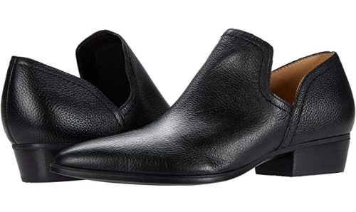 Comfortable and Fashionable dress shoes for work for Real Life Style, Naturalizer black leather belinda booties