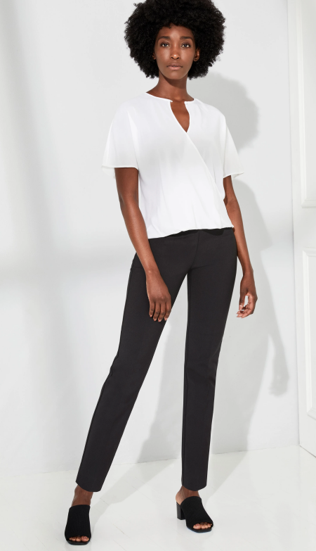 Ecru lombard slim trouser, perfect work pants for Real Life Style