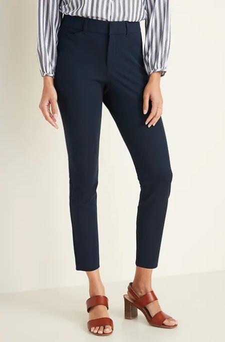 Old Navy high-waisted pixie pants, perfect work pants in petite, long, and plus for Real Life Style