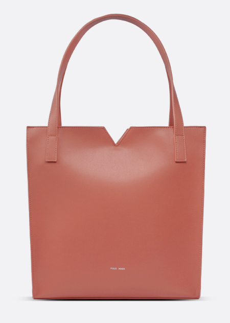 Real Life Style work tote bag, Pixie Mood Alicia tote in desert clay faux vegan leather