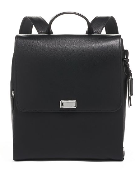 Real Life Style work tote bag, Tumi Lisette backpack in black leather