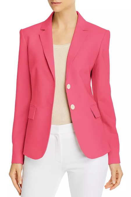 Theory watermelon pink Carissa blazer a power color for Real Life Style