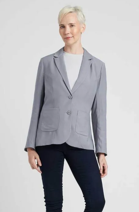Real Life Style Must Have Comfortable Blazer for Work or Work From Home, Universal standard megan blazer in grey