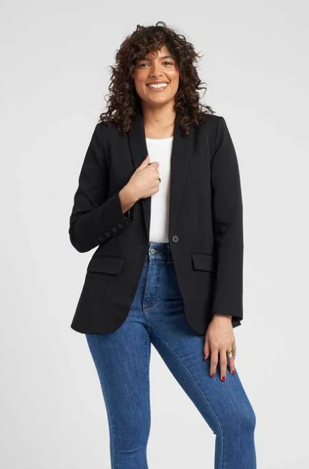 Real Life Style Must Have Comfortable Blazer for Work or Work From Home, Universal standard stretch eco rio blazer